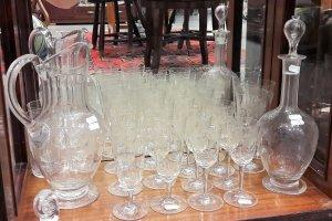 soubor  skla na víno (8 8)ks karafa, soubor skla na vodu (8 8)ks džbán